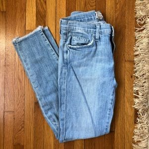 CURRENT/ELLIOT DISTRESSED SKINNY JEANS